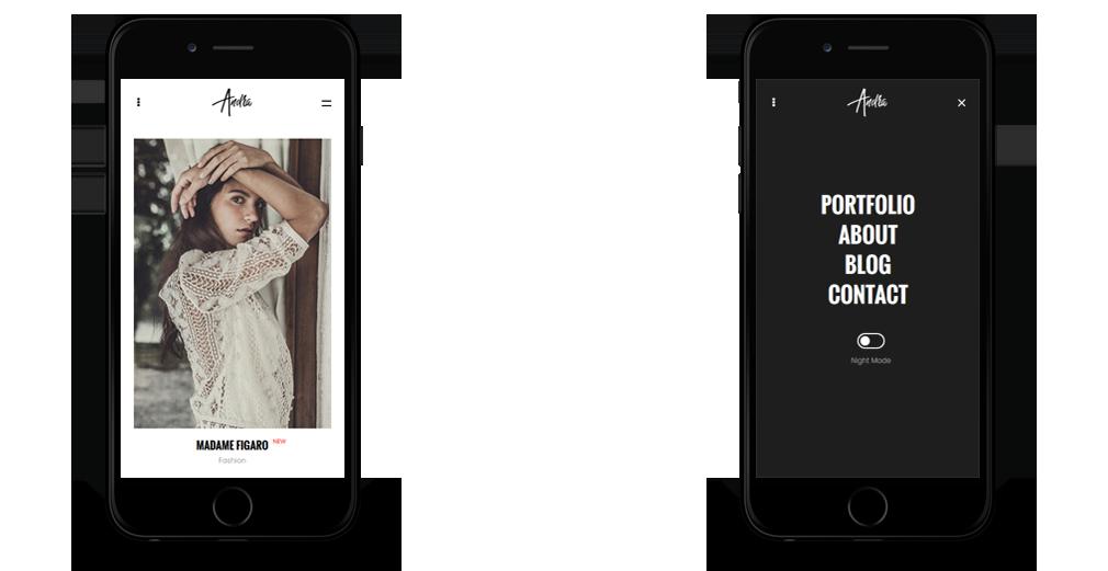 andra WordPress Theme Responsive Mobile