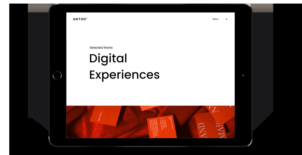 antro WordPress Theme Responsive Tablet