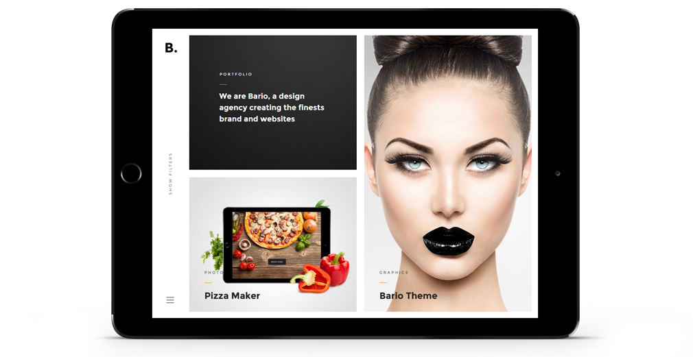 Bario WordPress Theme Responsive Tablet