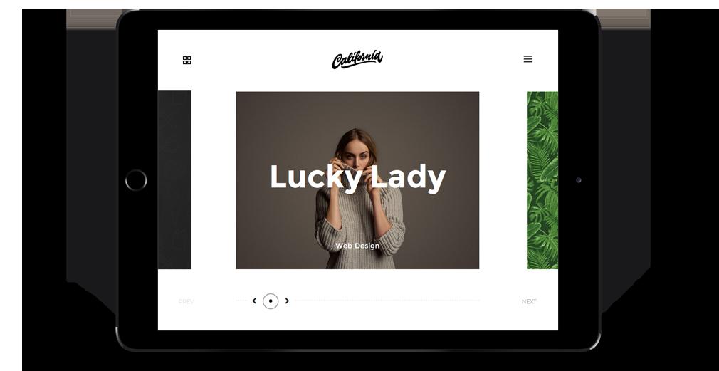 California WordPress Theme Responsive Tablet