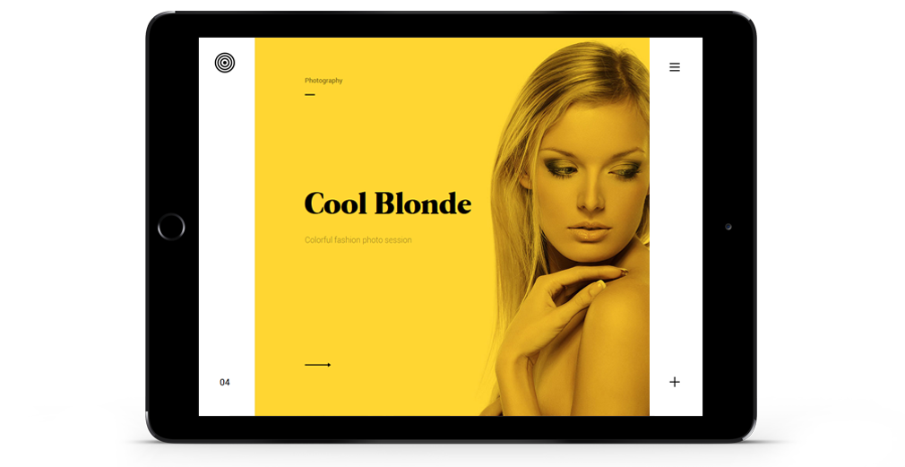 Enfolio WordPress Theme Responsive Tablet