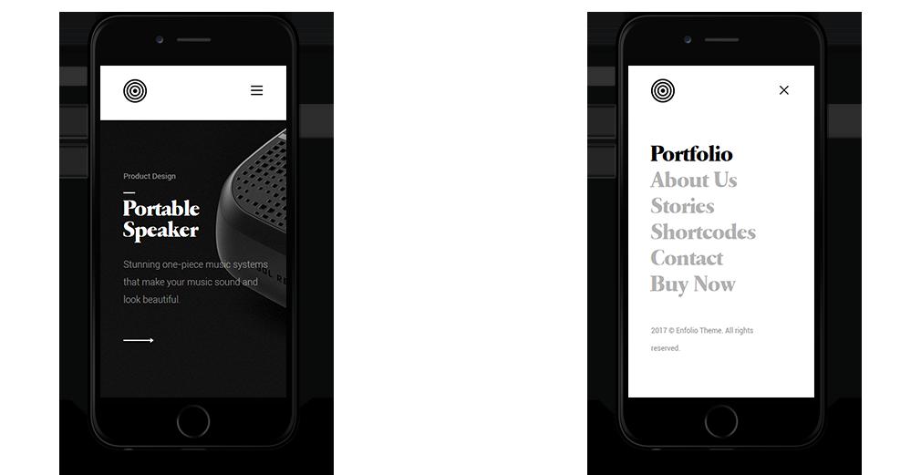 Enfolio WordPress Theme Responsive Mobile