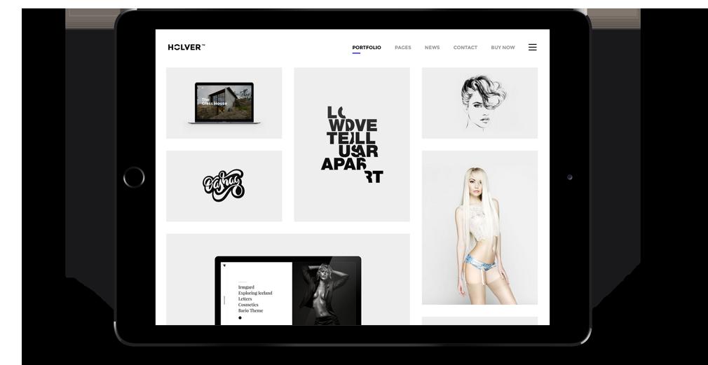 Holver WordPress Theme Responsive Tablet