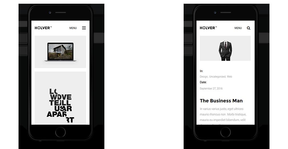 Holver WordPress Theme Responsive Mobile