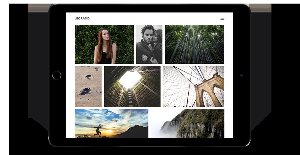 Legrand WordPress Theme Responsive Tablet