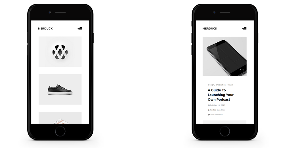 Nerduck WordPress Theme Responsive Mobile