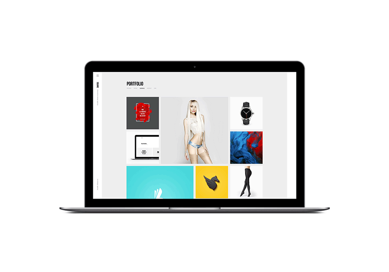 Squares Portfolio WordPress Theme by ClaPat