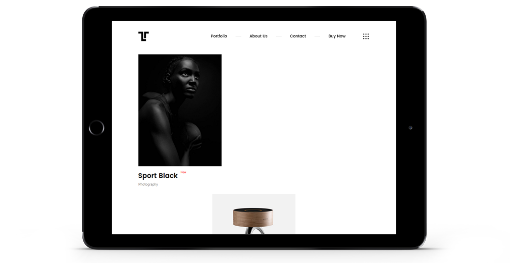 Tetriz WordPress Theme Responsive Tablet