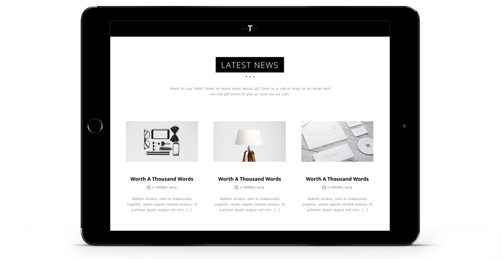 Trent WordPress Theme Responsive Tablet