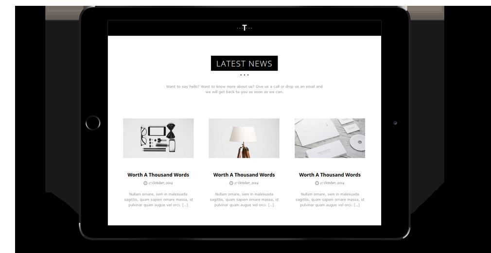 Trent WordPress Theme Responsive Tablet