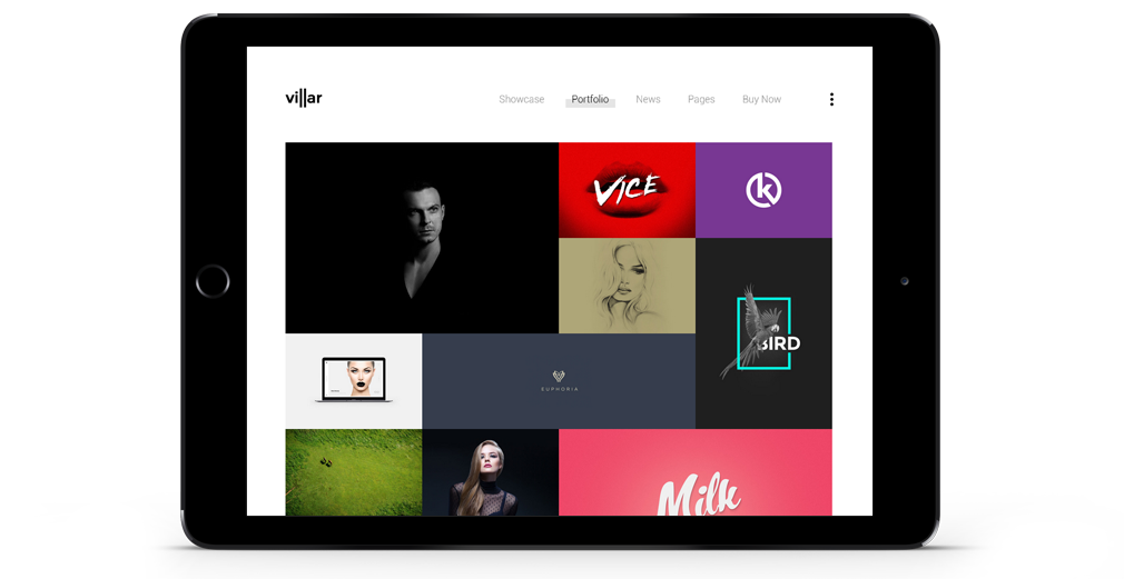 Villar WordPress Theme Responsive Tablet