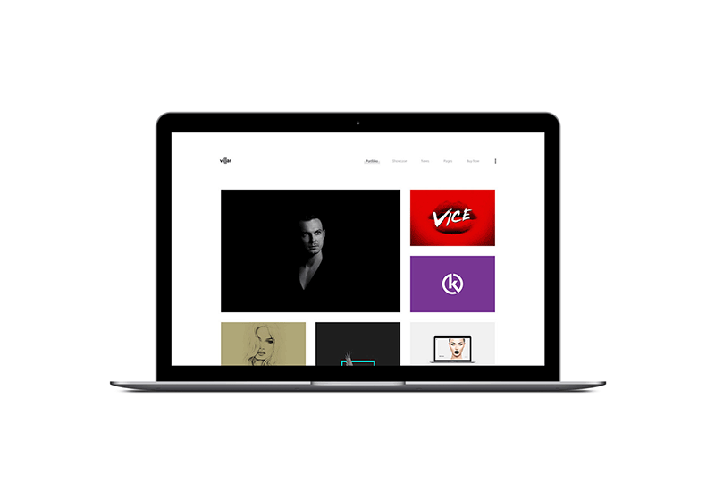 Villar Portfolio WordPress Theme by ClaPat